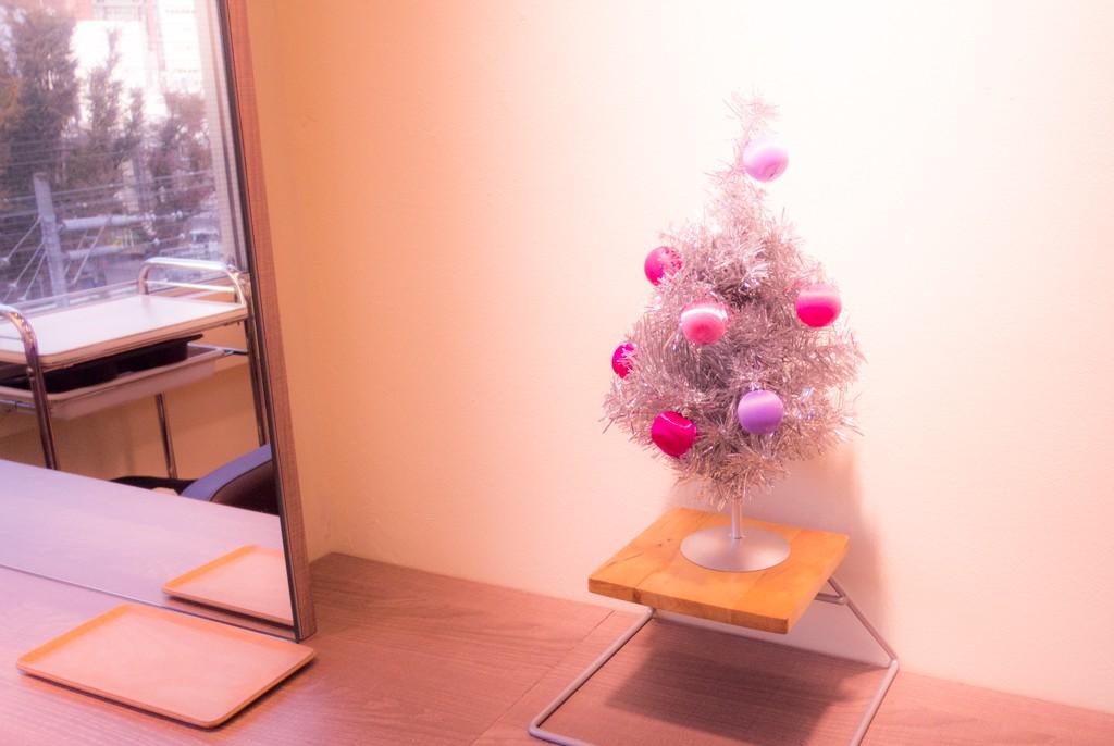 本日は5名のスタイリストさんに使っていただきます|クリスマスツリーを飾りました。